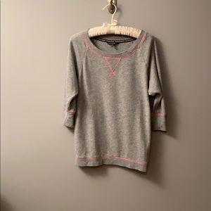 Victoria's Secret 3/4 sleeve fleece top